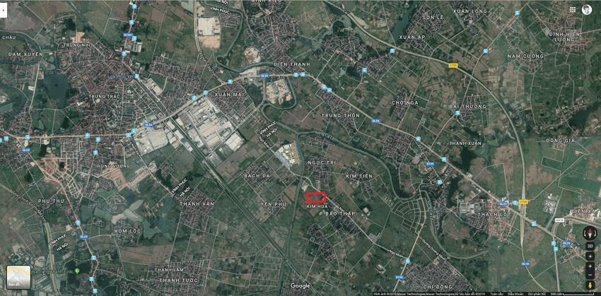 Kết nối vùng dự án Khu đô thị Kim Hoa Mê Linh