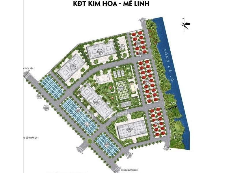 Mặt bằng phân lô Khu đô thị Kim Hoa Mê Linh