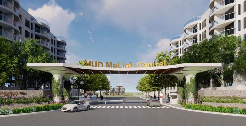 Cổng chào dự ánHUD Melinh Central Đại Thịnh