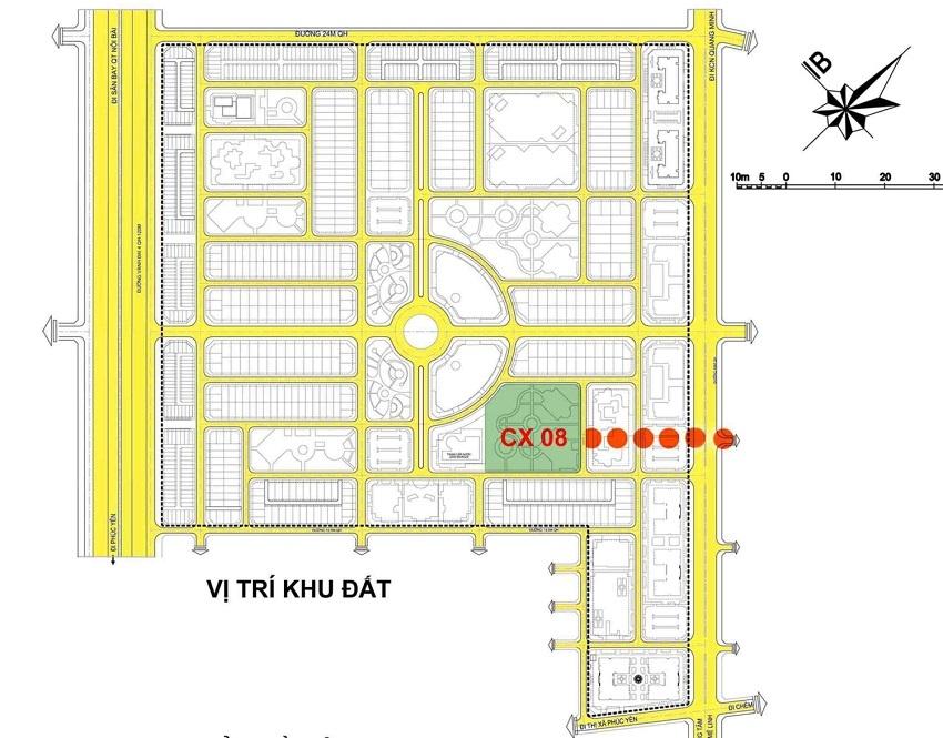 Mặt bằng quy hoạch Hud Mê Linh Central – Thanh Lâm Đại Thịnh 2
