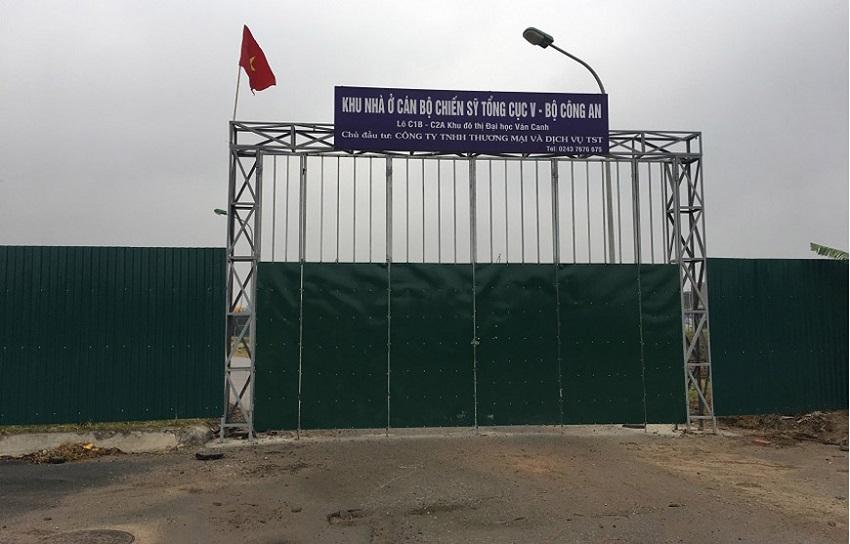 Cổng dự án TST Vân Canh - Liền kề Tổng cục 5