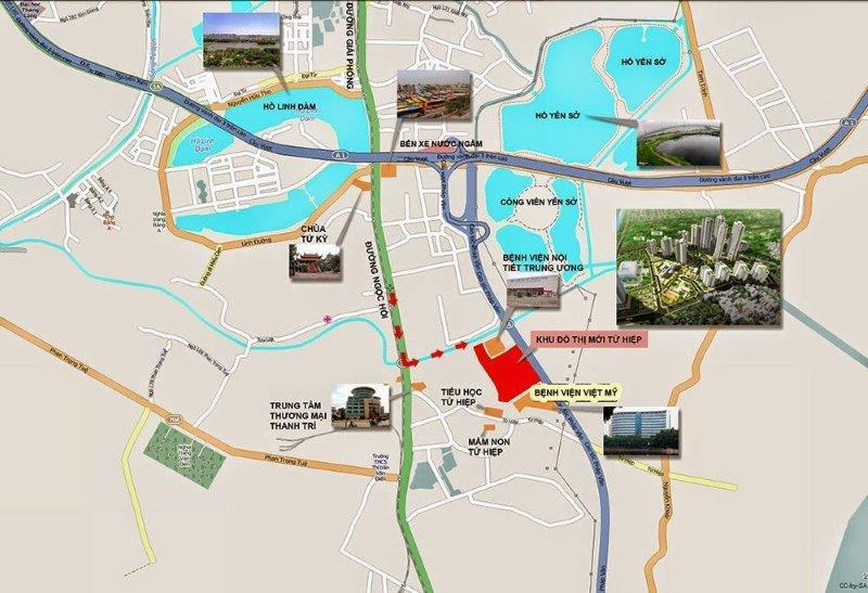 Vị trí Trung tâm của Dự án Hồng Hà Eco City