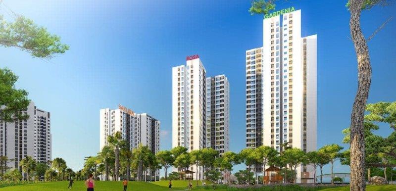 Phối cảnh dự án Hồng Hà Eco City