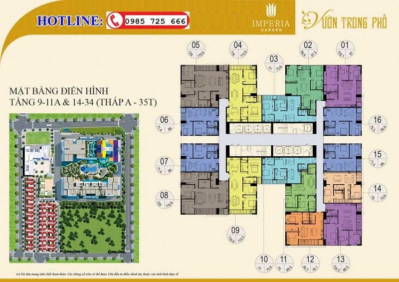 Mặt bằng tầng 9-11a-14-34 tòa B 35T Imperia Garden