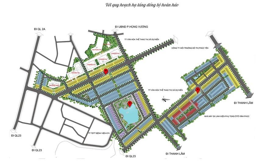 Mặt bằng tổng thể dự án TMS Grand City Phúc Yên