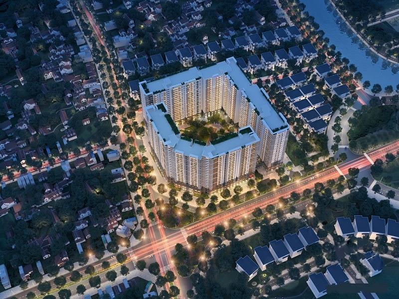 Phối cảnh đêm Dự án Chung cư Hope Residence Phúc Đồng