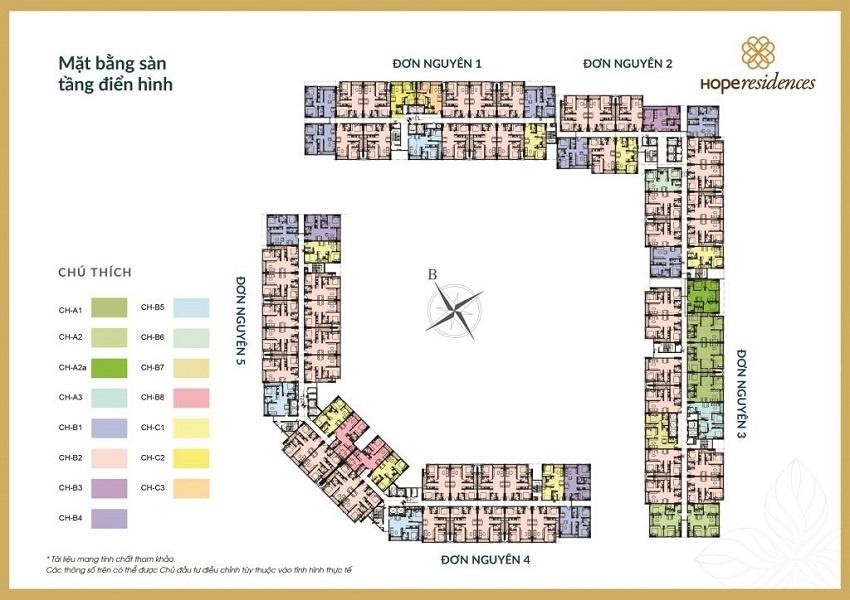 Mặt bằng Tổng thể Dự án Chung cư Hope Residences Phúc Đồng