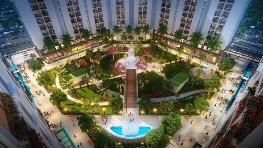Quảng trường Trung tâm Chung cư Hope Residences Phúc Đồng