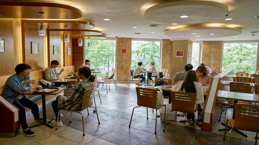 Nhà hàng cà phê tại Chung cư Hope Residences Phúc Đồng