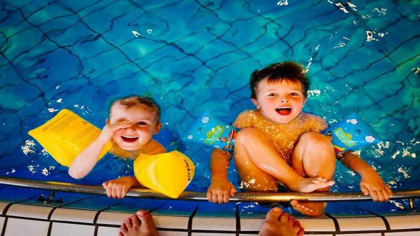 Bể bơi ở Chung cư Hope Residence Phúc Đồng
