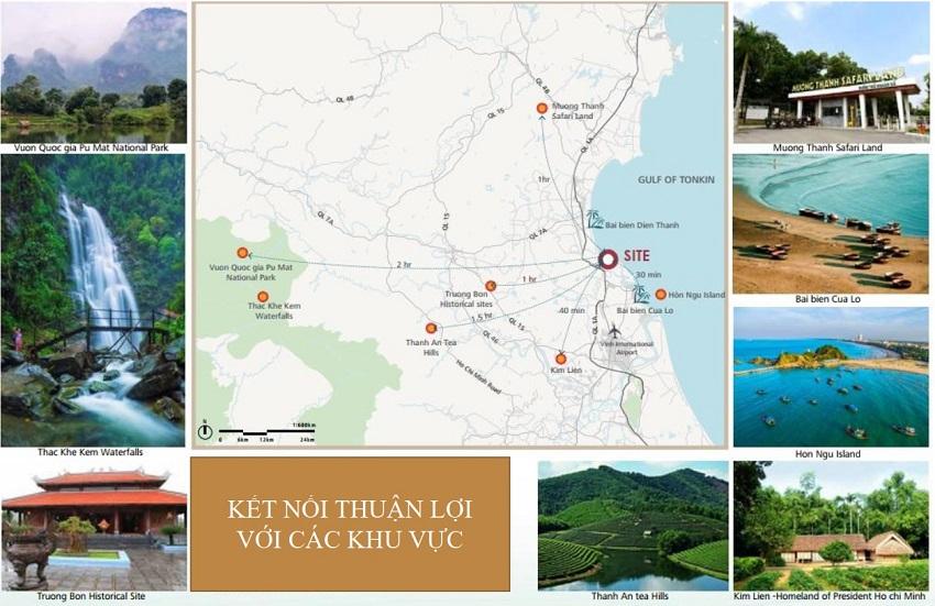 Kết nối khu vực dự án Meyresort Bãi Lữ Nghệ An