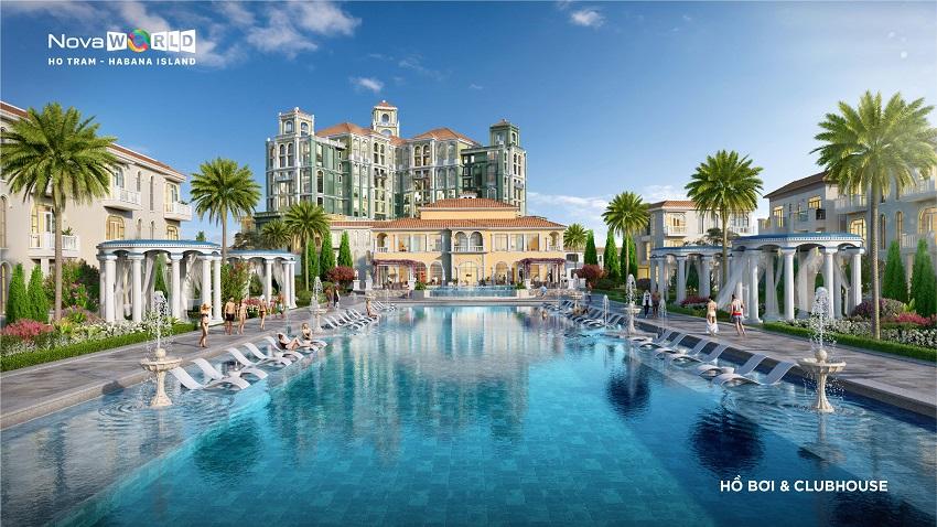 Hồ bơi và Clubhouse Habana Island - Novaworld Hồ Tràm