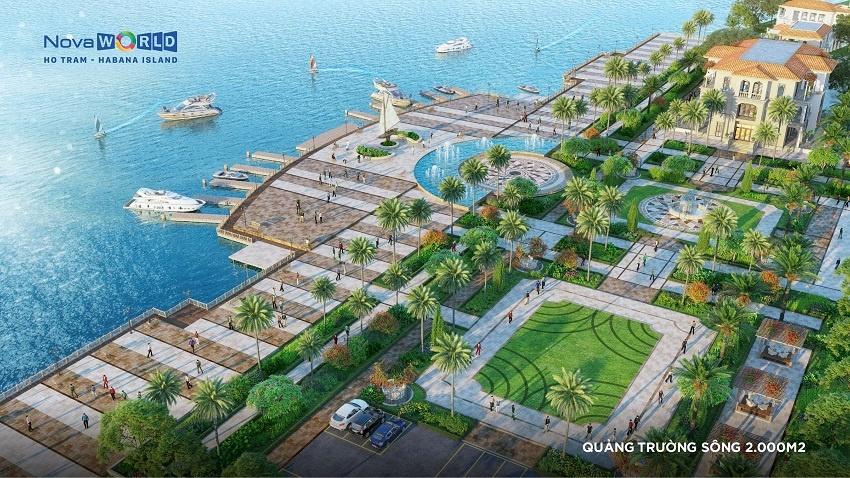Quảng trường sông 2000 m2