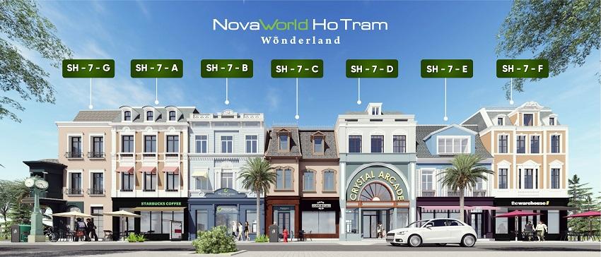 Thiết kế shophouse trung tâm Novaworld Hồ Tràm Wonderland