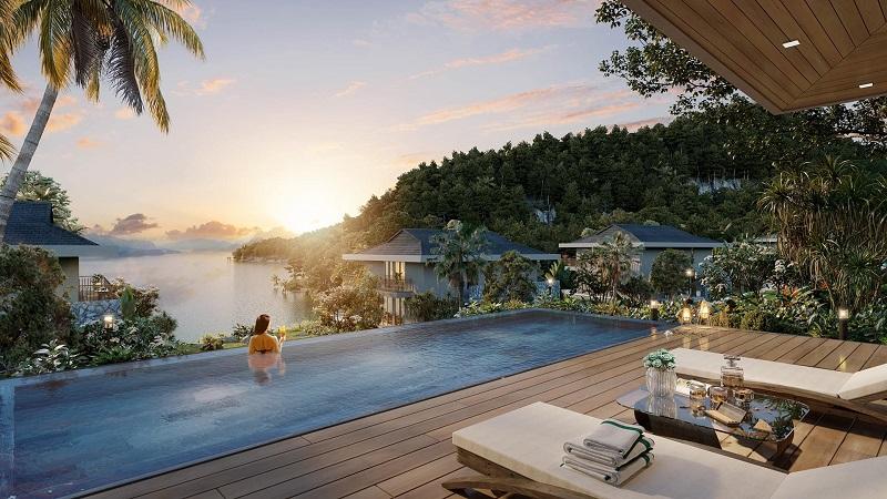 Bể bơi vô cực Cullinan Resort Hoà Bình