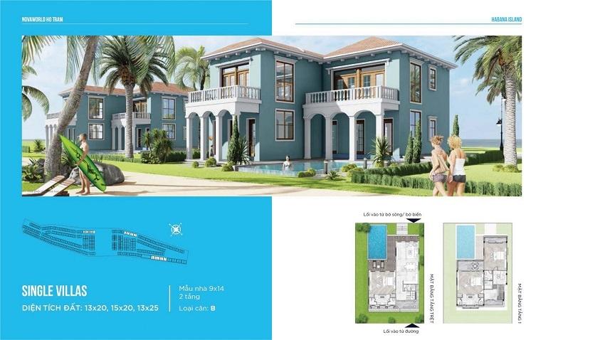 Thiết kế mẫu BT Đơn lập B Habana Island - Novaworld Hồ Tràm