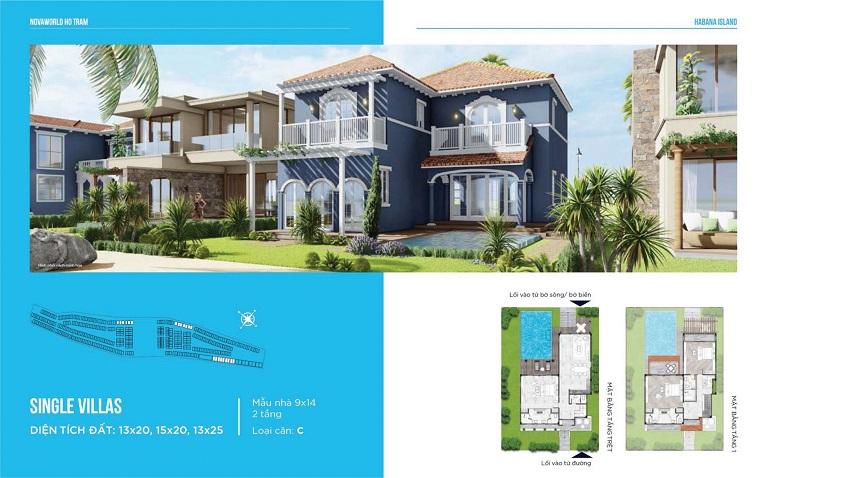 Thiết kế mẫu BT Đơn lập C Habana Island - Novaworld Hồ Tràm