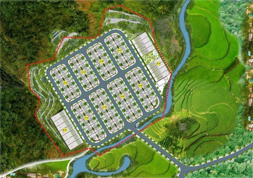 Mặt bằng phân lô khu đất đấu giá Phương Đông Green Valley Lương Sơn