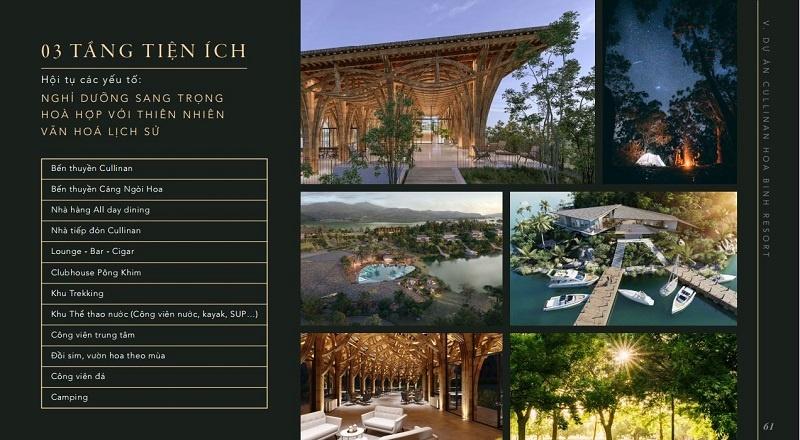 Mặt bằng tiện ích Cullinan Resort Hòa Bình