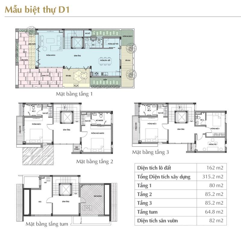 Mẫu thiết kế D1 Sol Lake Villa Biệt thự Đô Nghĩa – Nam Cường
