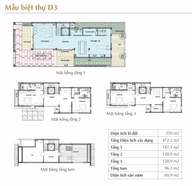 Mẫu thiết kế D3 Sol Lake Villa Biệt thự Đô Nghĩa – Nam Cường