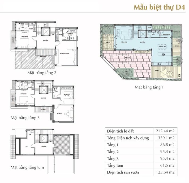 Mẫu thiết kế D4 Sol Lake Villa Biệt thự Đô Nghĩa – Nam Cường