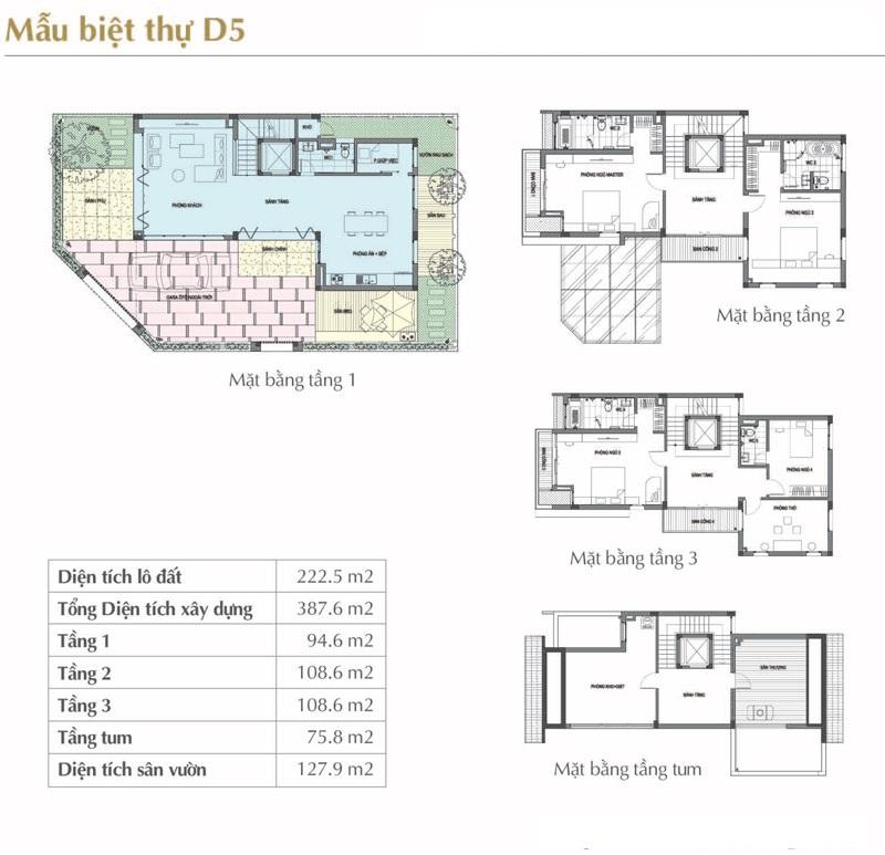 Mẫu thiết kế D5 Sol Lake Villa Biệt thự Đô Nghĩa – Nam Cường