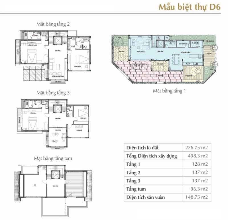 Mẫu thiết kế D6 Sol Lake Villa Biệt thự Đô Nghĩa – Nam Cường