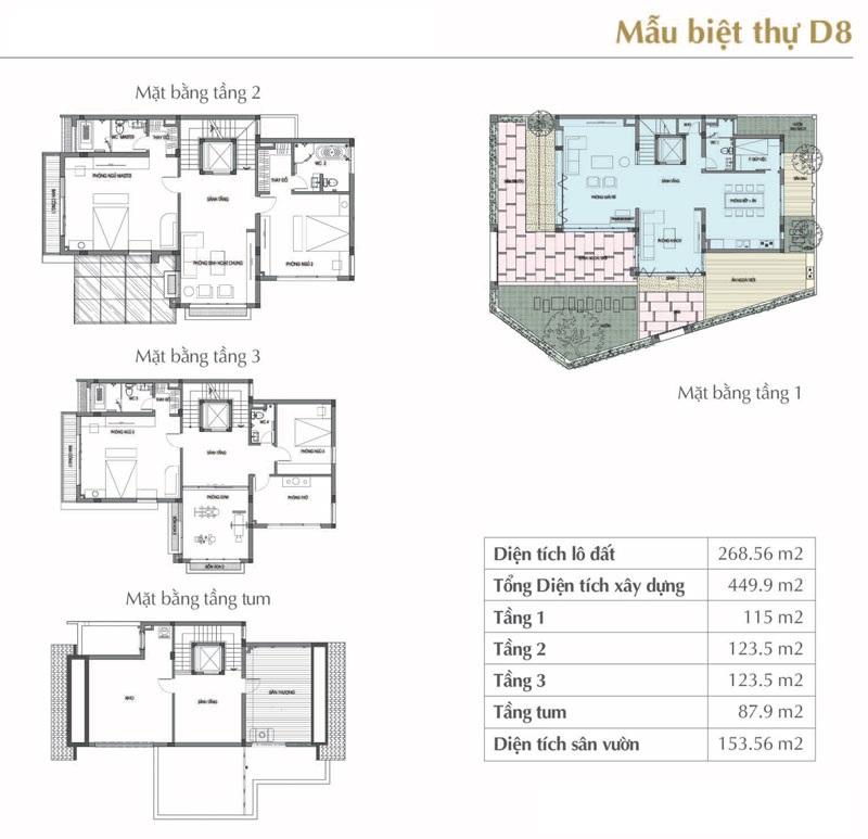 Mẫu thiết kế D8 Sol Lake Villa Biệt thự Đô Nghĩa – Nam Cường