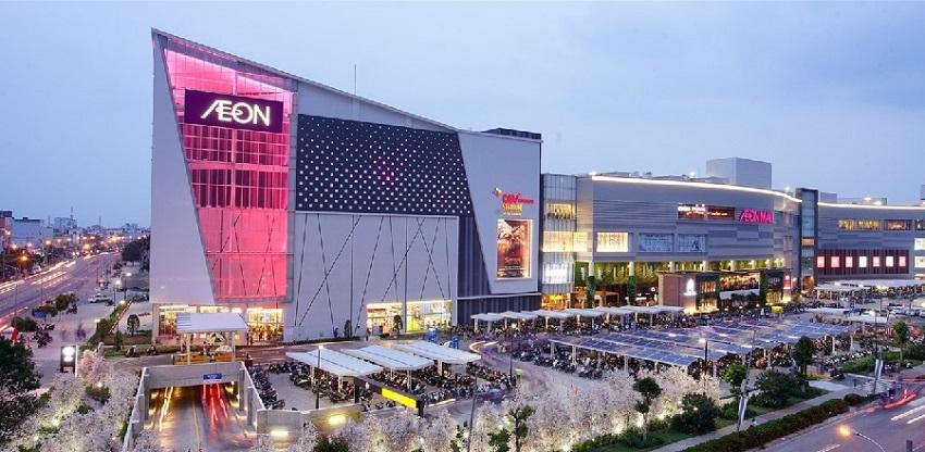 Trung tâm thương mại Aeon Mall giáp Bát Hoàng Mai chỉ cách Feliz Homes 2 km