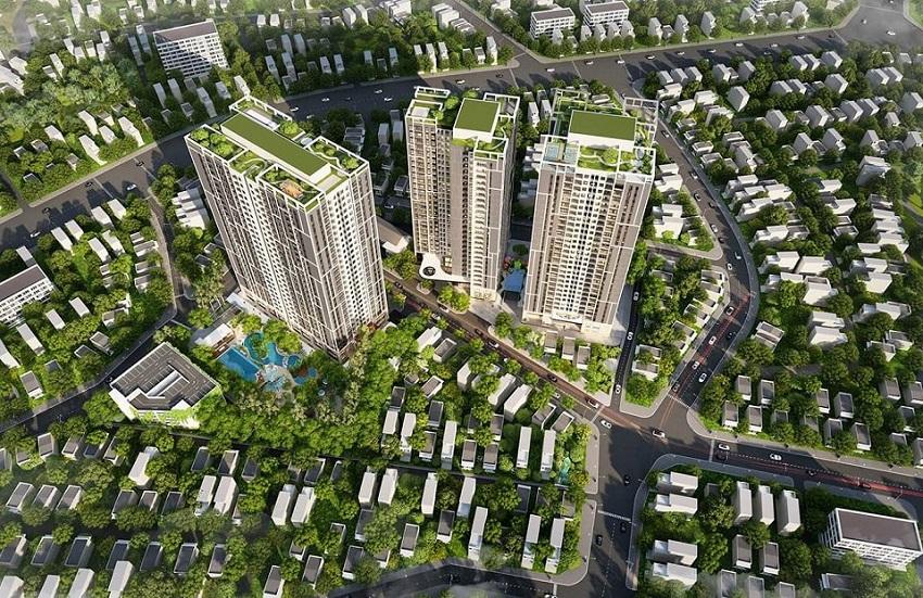 Phối cảnh dự án Feliz Homes Hoàng Mai