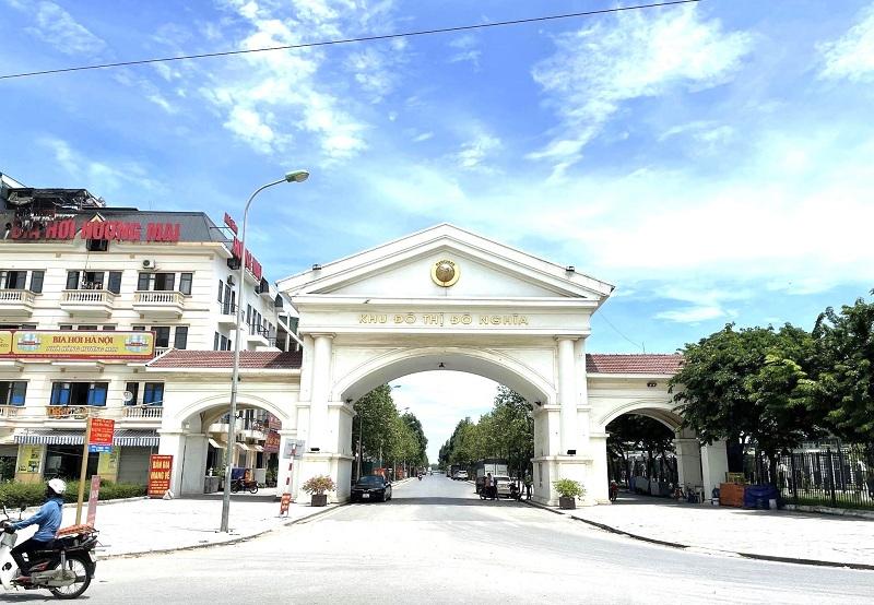 Cổng chào KĐT Đô Nghĩa - Nam Cường