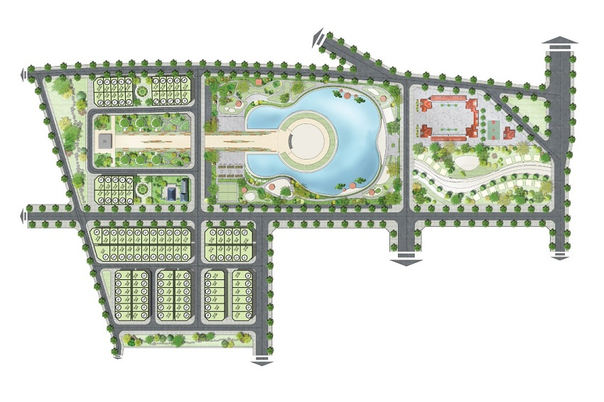 Mặt bằng phân lô dự án Sol Lake Villa Biệt thự Đô Nghĩa – Nam Cường