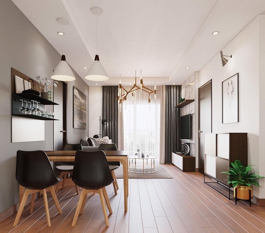Nội thất nhà mẫu căn hộ Feliz Homes Hoàng Mai