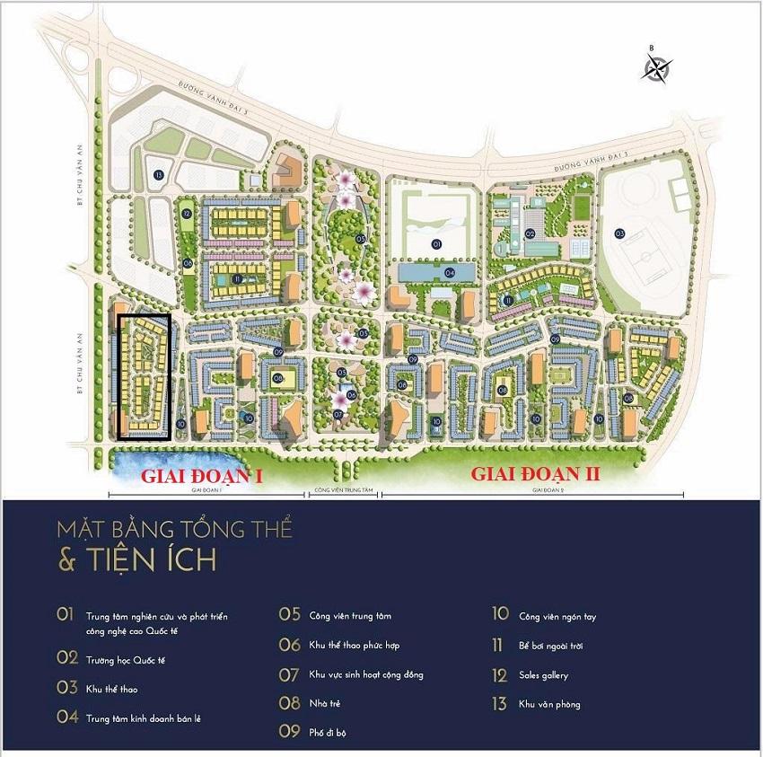 Quy hoạch tiện ích Giai đoạn 1 + 2 The Manor Nguyễn Xiển