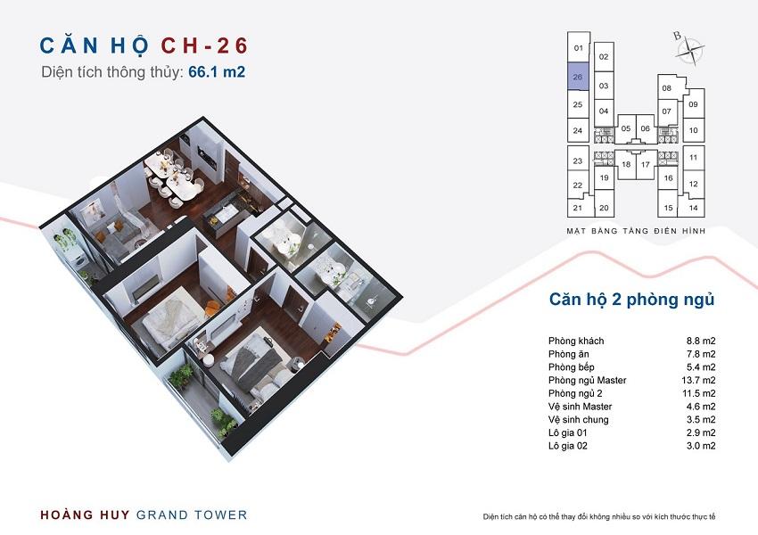 Thiết kế căn hộ 26