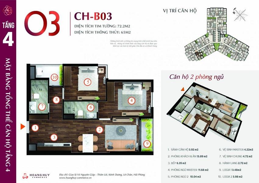 Thiết kế căn hộ 03 Chung cư Hoàng Huy Commerce