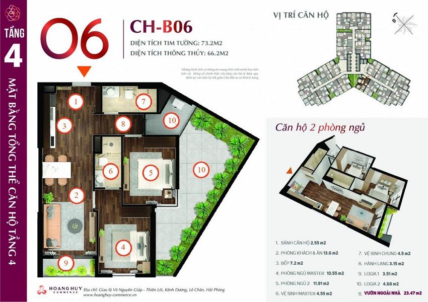 Thiết kế căn hộ 06 Chung cư Hoàng Huy Commerce