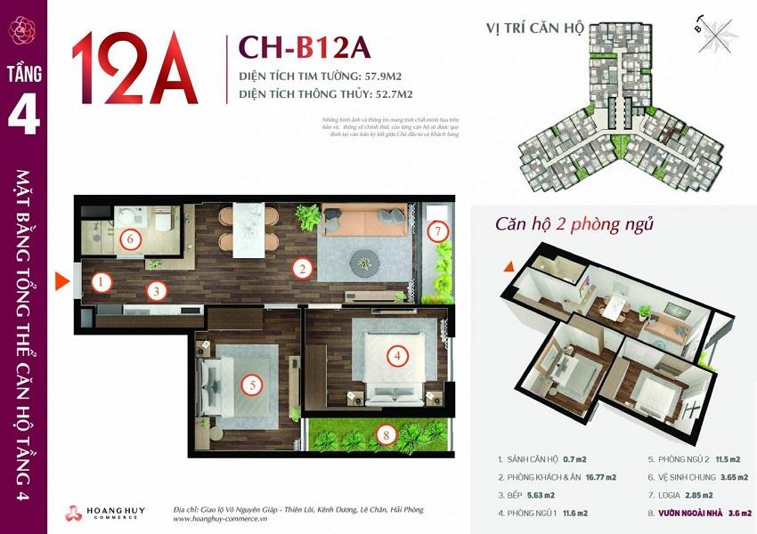 Thiết kế căn hộ 12A