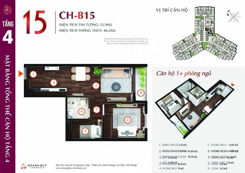 Thiết kế căn hộ 15 Chung cư Hoàng Huy Commerce
