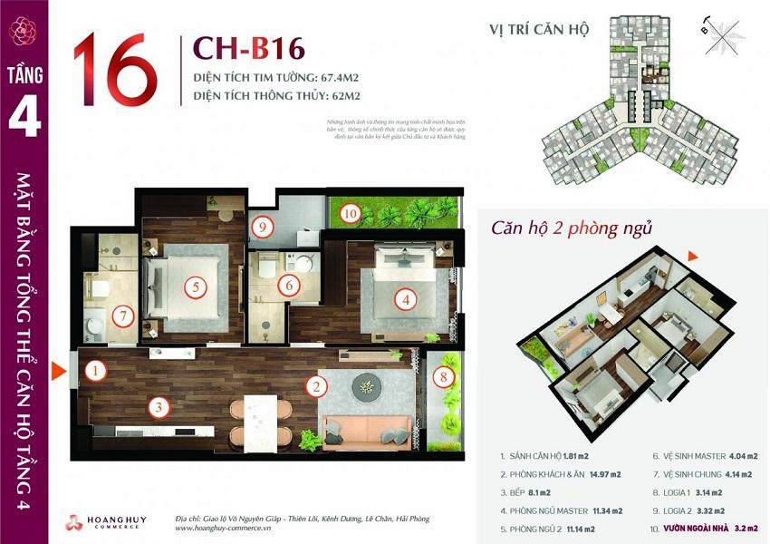 Thiết kế căn hộ 16
