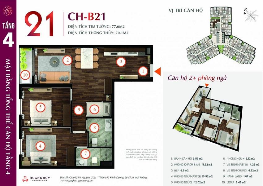 Thiết kế căn hộ 21 Chung cư Hoàng Huy Commerce