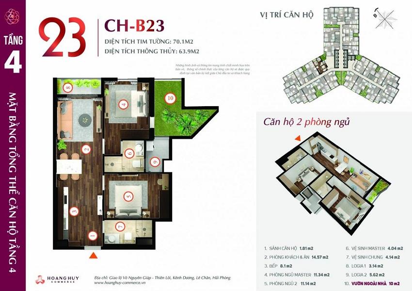 Thiết kế căn hộ 23
