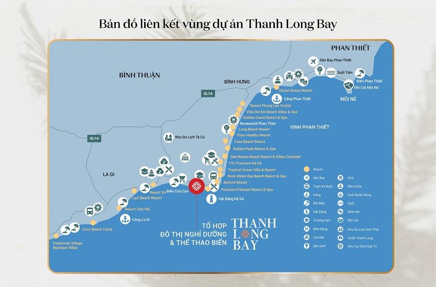 Bản đồ liên kết vùng dự án Thanh Long Bay