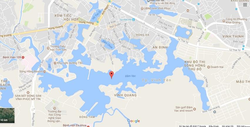 River Bay Vĩnh Yêntọa lạc tại cửa ngõ phía Bắc của Hồ Đầm Vạc thuộc phường Đống Đa -thành phố Vĩnh Yên.