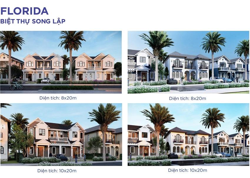 Thiết kế Biệt thự Song lập Florida