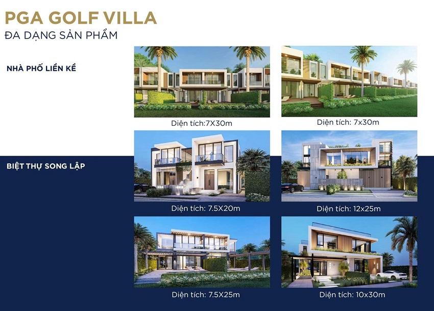 Thiết kế Nhà phố liền kề và Biệt thự song lập PGA Golf Villa