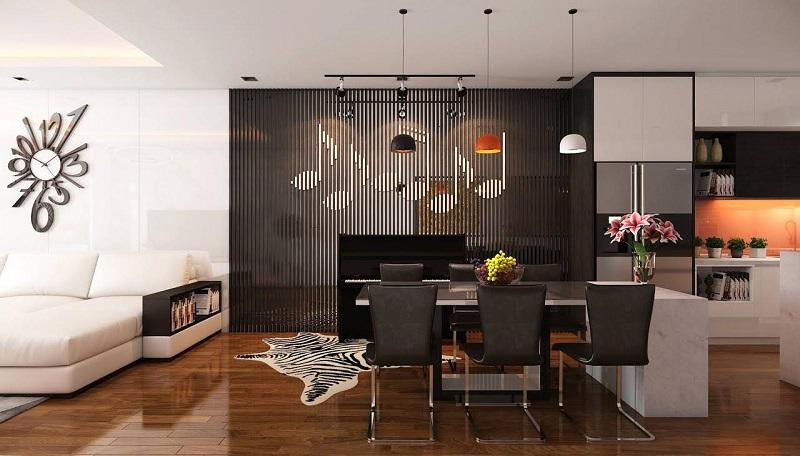 Thiết kế phòng khách nhà mẫu