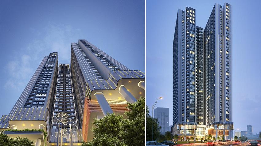 Phối cảnh chung cư Hoàng Huy Grand Tower Sở Dầu