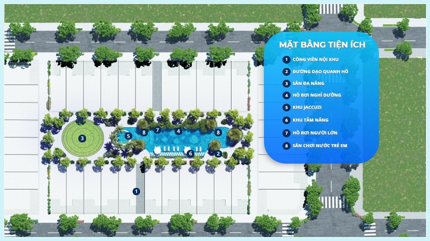 Mặt bằng tiện ích dự án Thanh Long Bay